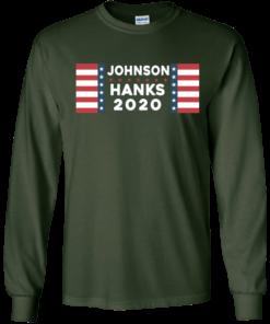 image 654 247x296px Johnson Hanks for president 2020 T Shirts, Hoodies, Tank Top