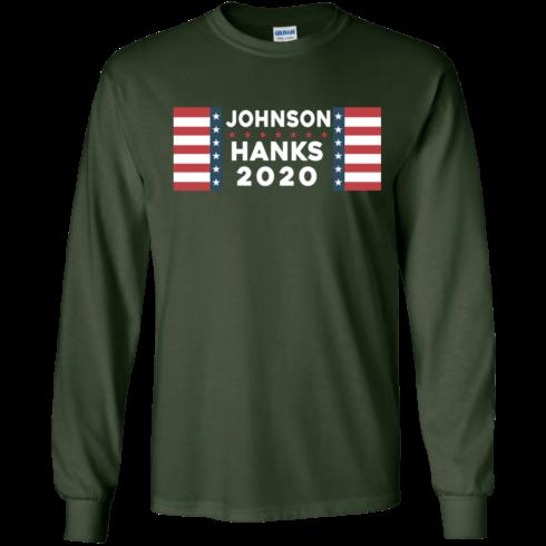 image 654 490x490px Johnson Hanks for president 2020 T Shirts, Hoodies, Tank Top