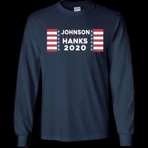 image 655 490x490px Johnson Hanks for president 2020 T Shirts, Hoodies, Tank Top