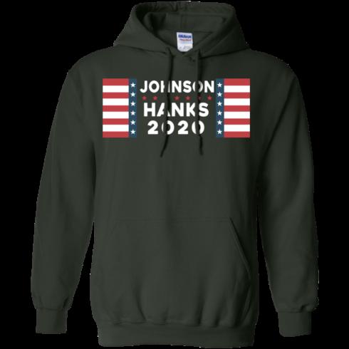 image 658 490x490px Johnson Hanks for president 2020 T Shirts, Hoodies, Tank Top