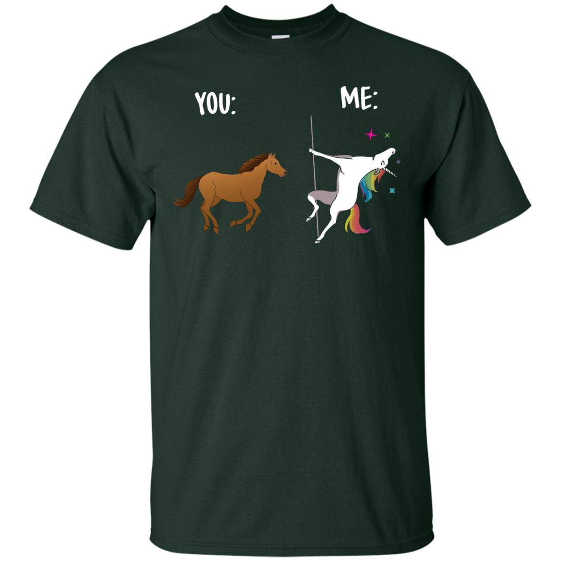 image 1011px You and Me Unicorn: You are a horse, I'm an Unicorns T Shirts, Tank Top