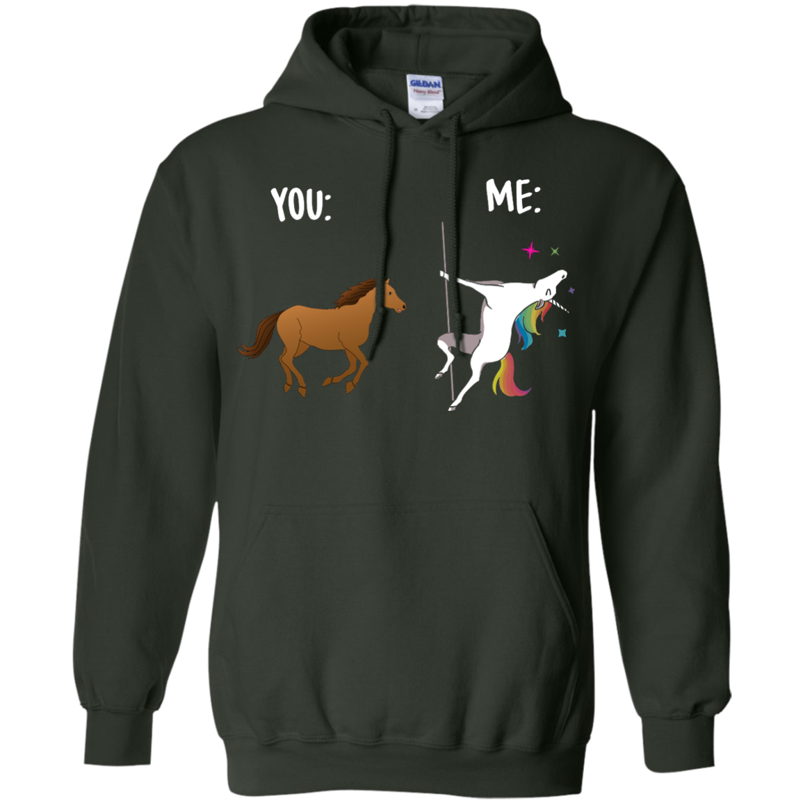image 1015px You and Me Unicorn: You are a horse, I'm an Unicorns T Shirts, Tank Top