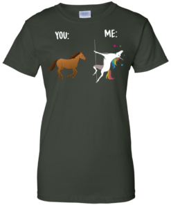 image 1017 247x296px You and Me Unicorn: You are a horse, I'm an Unicorns T Shirts, Tank Top