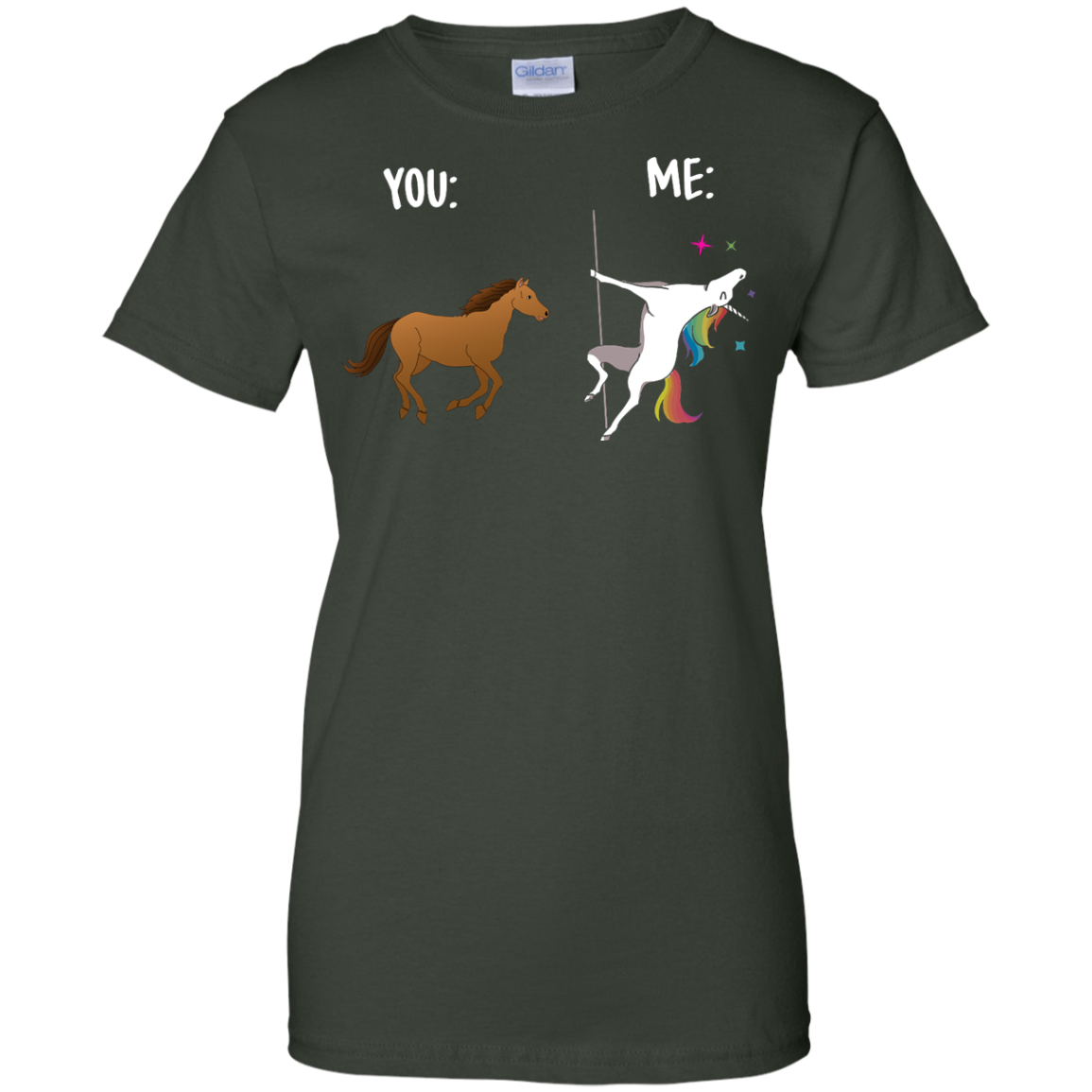 image 1017px You and Me Unicorn: You are a horse, I'm an Unicorns T Shirts, Tank Top