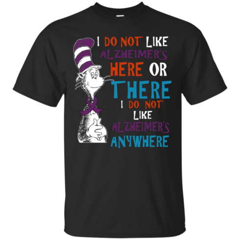 image 1117 490x490px I Do Not Like Alzheimer's Here Or There Or Anywhere T Shirts, Hoodies, Tank