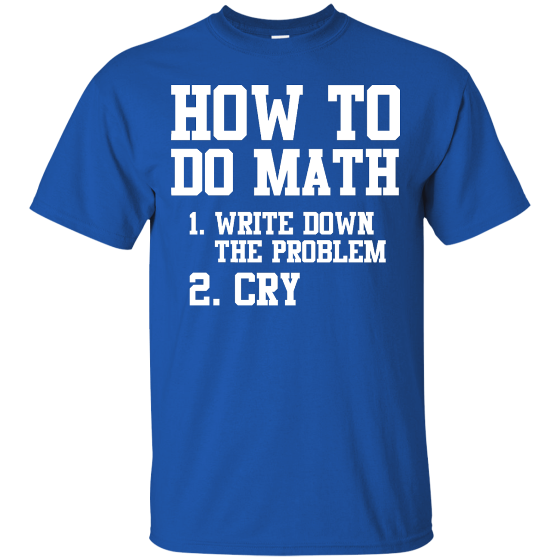 image 1153px How To Do Math: Write Down the Problem And Cry T Shirts, Hoodies