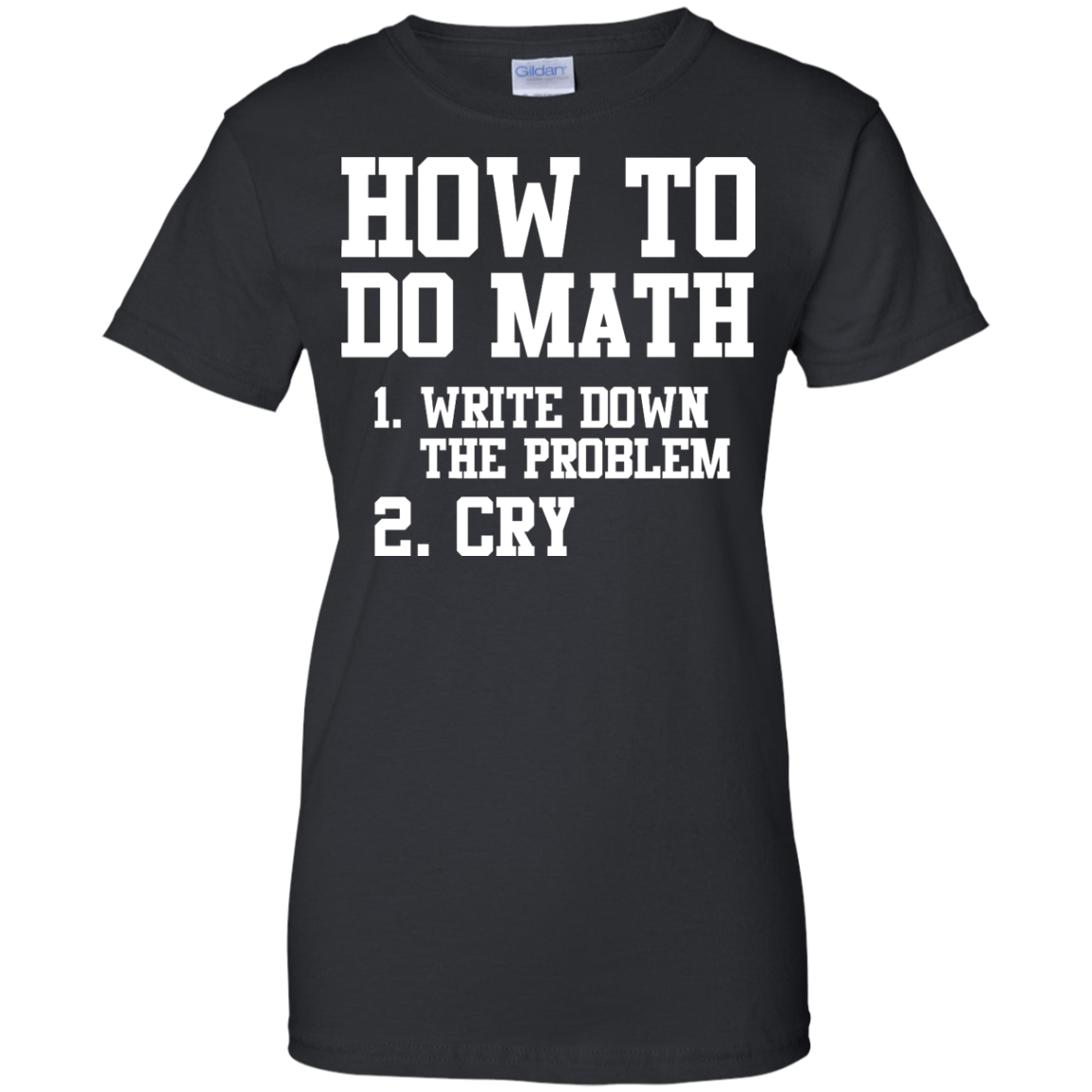 image 1158px How To Do Math: Write Down the Problem And Cry T Shirts, Hoodies