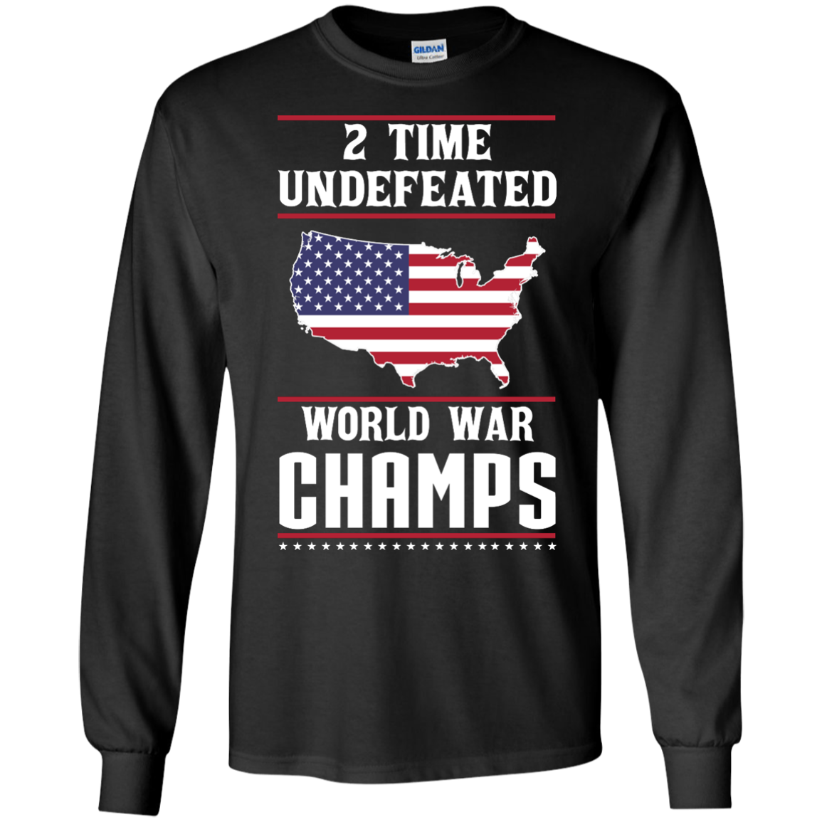 image 1178px Two time undefeated world war champs t shirt, hoodies, long sleeves