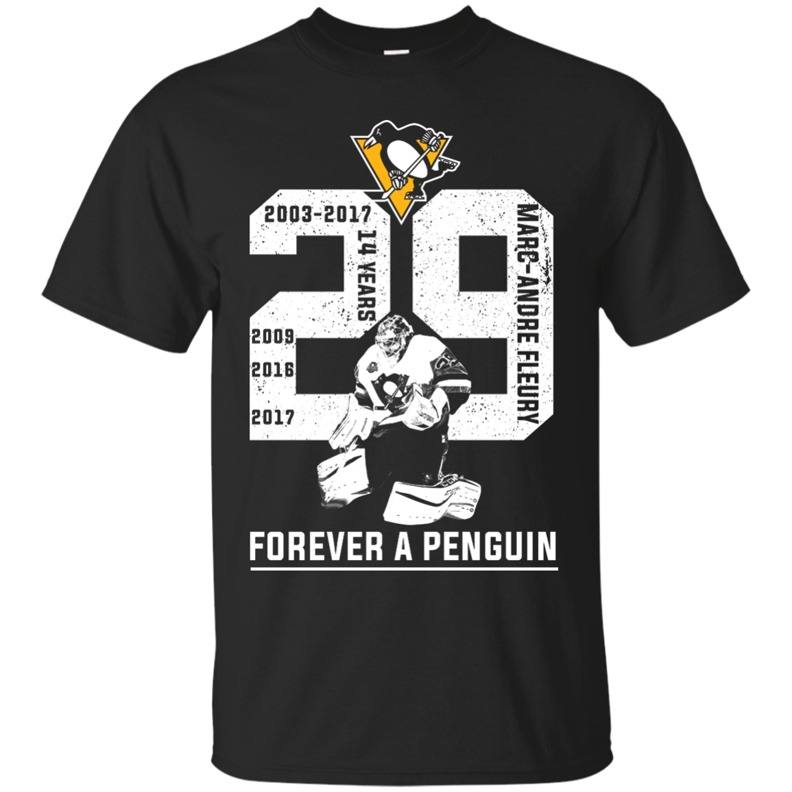 buy online d497f e0bf2 Marc Andre Fleury Forever A Penguin T-Shirts, Hoodies, Long Sleeves