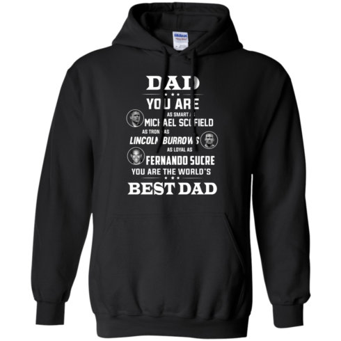 image 402 490x490px Dad you are smart as Michael strong as Lincoln loyal as Fernando t shirts, hoodies