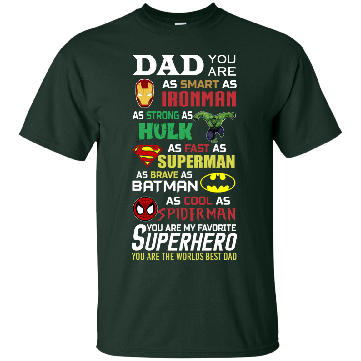 image 447px Dad You Are Smart As Ironman Strong As Hulk Fast As Superman T Shirts, Hoodies