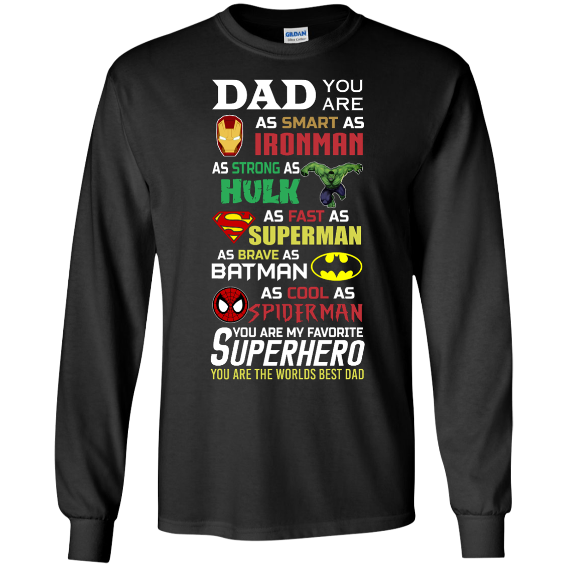 image 448px Dad You Are Smart As Ironman Strong As Hulk Fast As Superman T Shirts, Hoodies