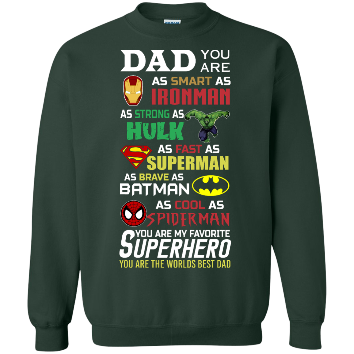 image 453px Dad You Are Smart As Ironman Strong As Hulk Fast As Superman T Shirts, Hoodies