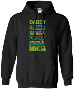 image 458 247x296px Ninja Turtles: Daddy You Are As Brave As Leonardo Smart As Donatello T Shirts, Hoodies