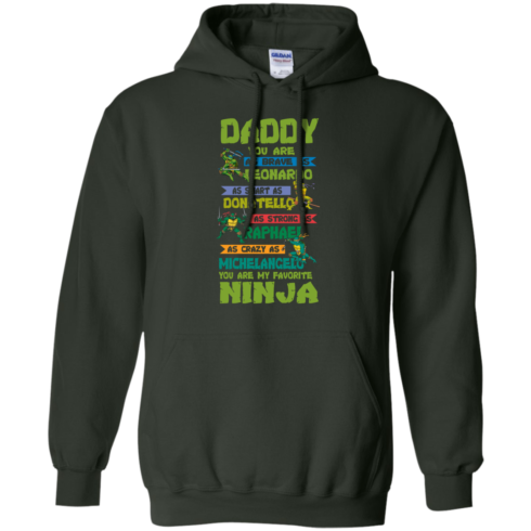 image 459 490x490px Ninja Turtles: Daddy You Are As Brave As Leonardo Smart As Donatello T Shirts, Hoodies