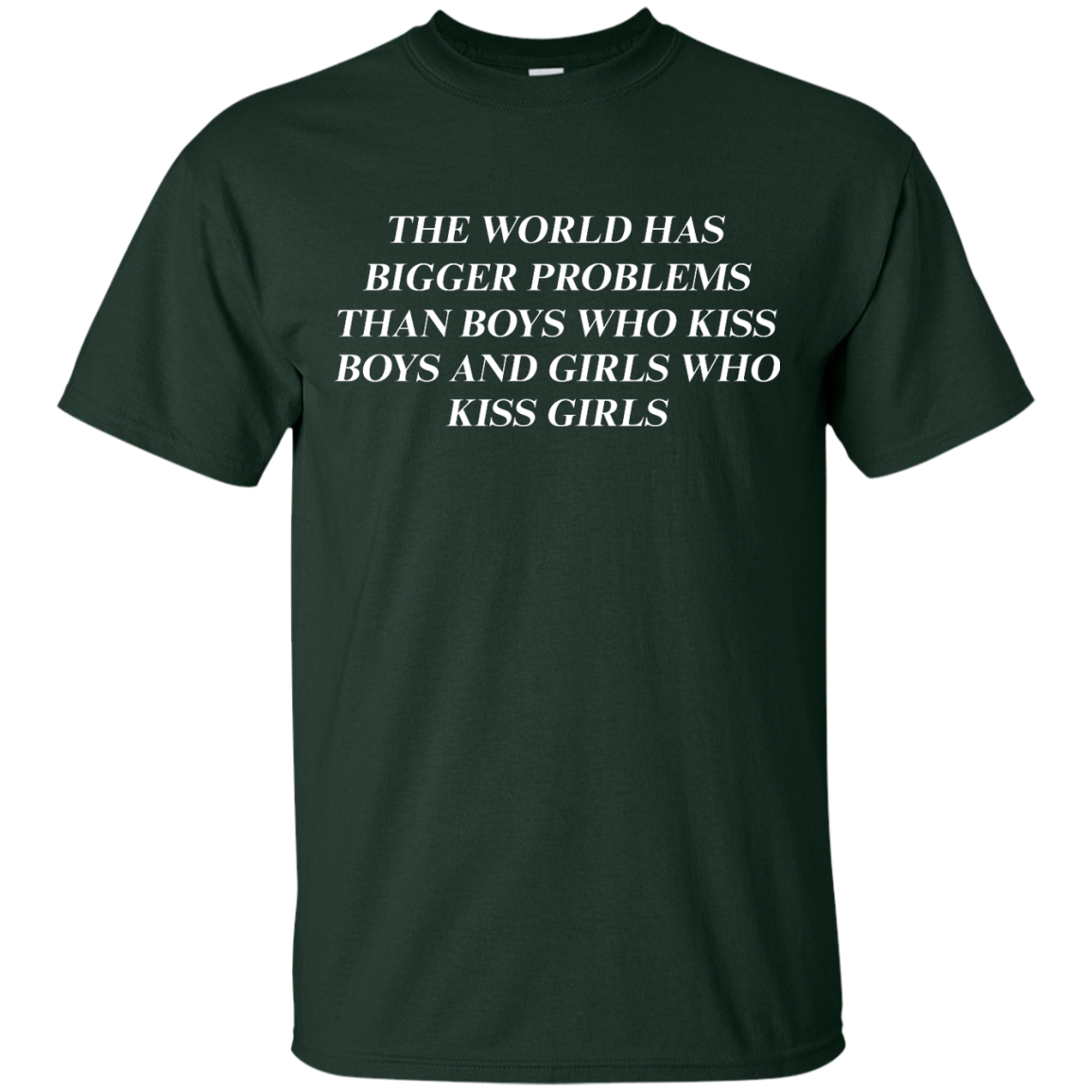 image 483px The world has bigger problems than boys who kiss boys and girls who kiss girls t shirts