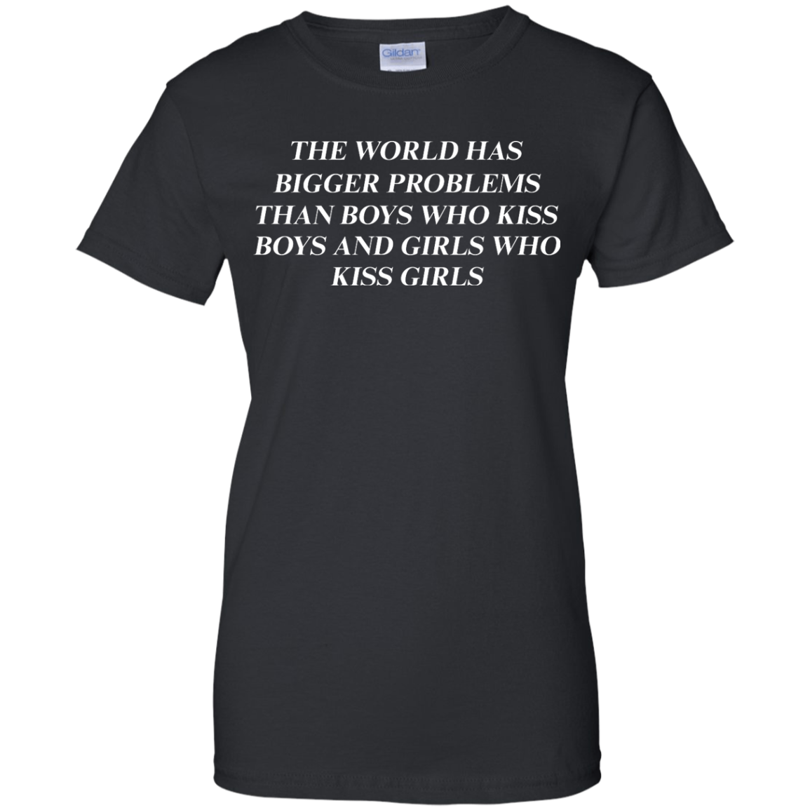 image 488px The world has bigger problems than boys who kiss boys and girls who kiss girls t shirts