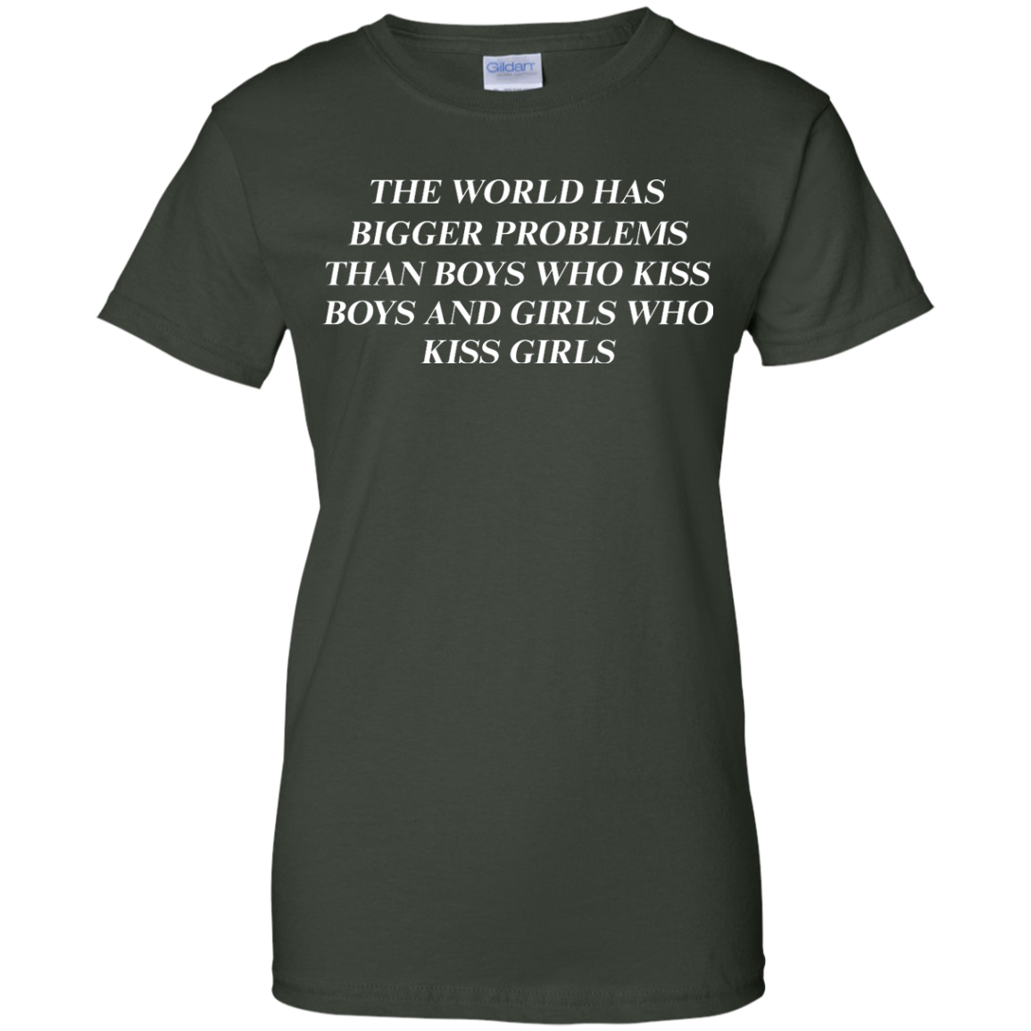 image 489px The world has bigger problems than boys who kiss boys and girls who kiss girls t shirts