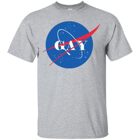 image 490 490x490px Nasa Gay Pride Logo T Shirts, Hoodies, Tank