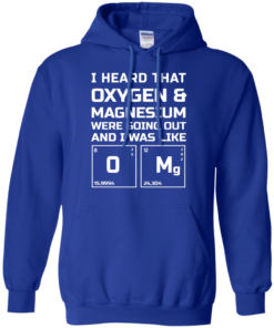 image 542 247x296px I Heard That Oxygen & Magnesium Were Going Out And I Was Like O Mg T Shirts