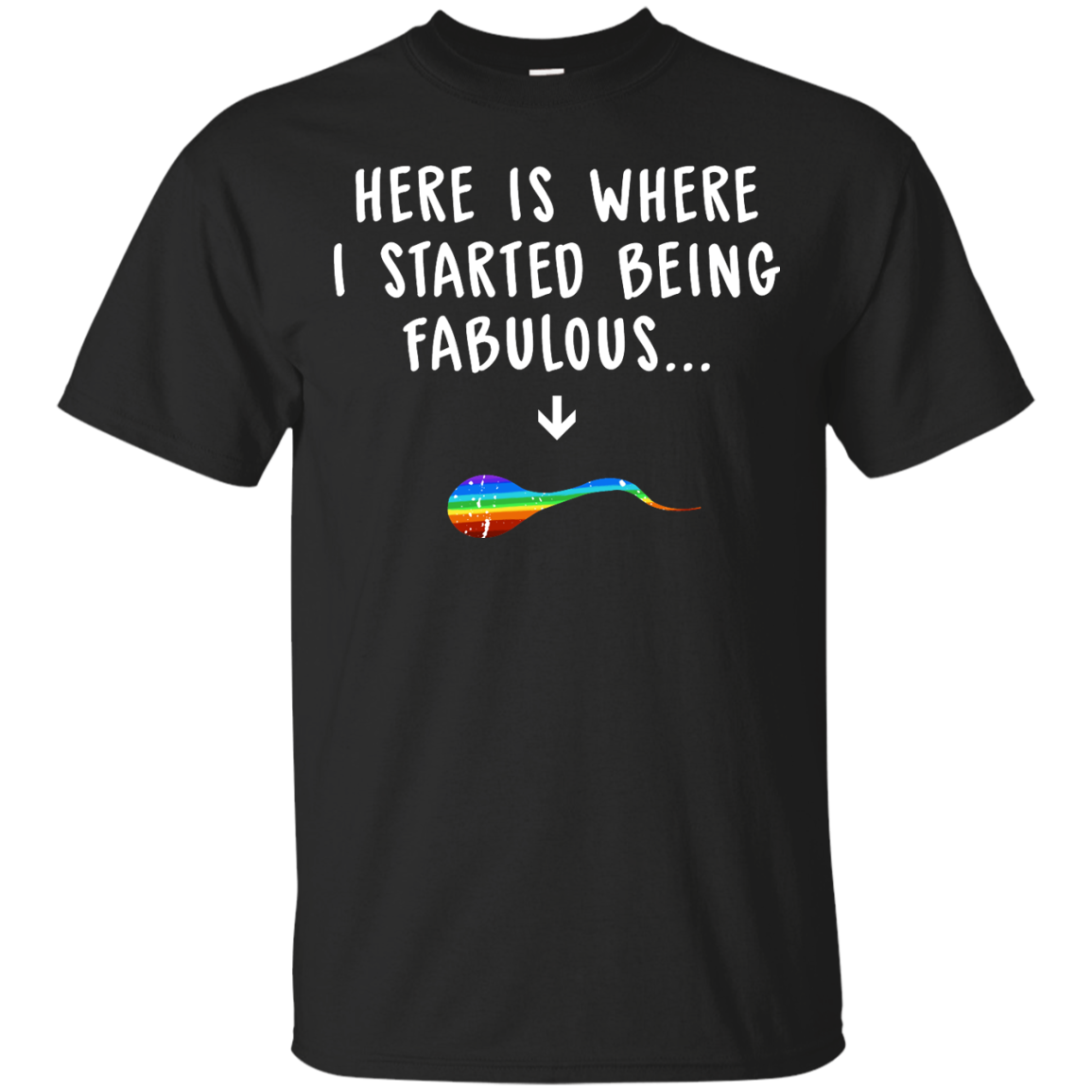 image 676px Here Is Where I Started Being Fabulous T Shirts, Hoodies