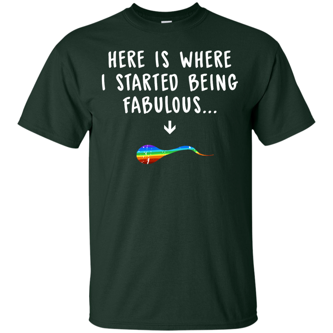 image 677px Here Is Where I Started Being Fabulous T Shirts, Hoodies