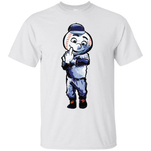 image 692 490x490px Mr. Met Middle Finger T Shirts, Hoodies
