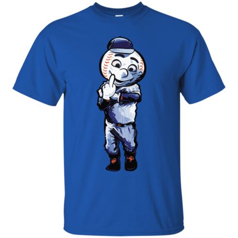 image 693 490x490px Mr. Met Middle Finger T Shirts, Hoodies