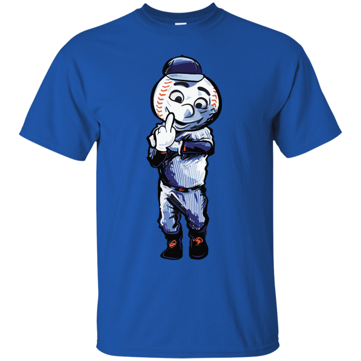 New York Mets Mascot Salute To Crowd Middle Finger Funny Logo T Shirt