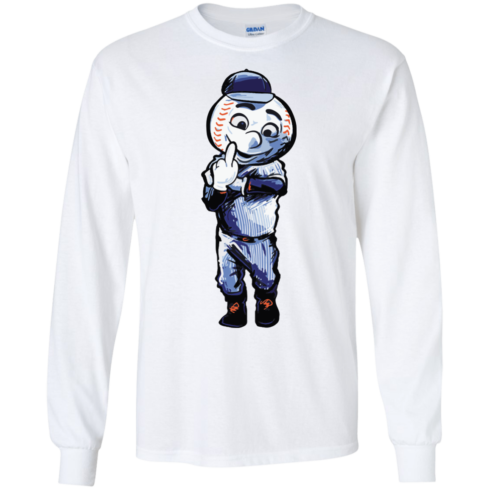 image 694 490x490px Mr. Met Middle Finger T Shirts, Hoodies