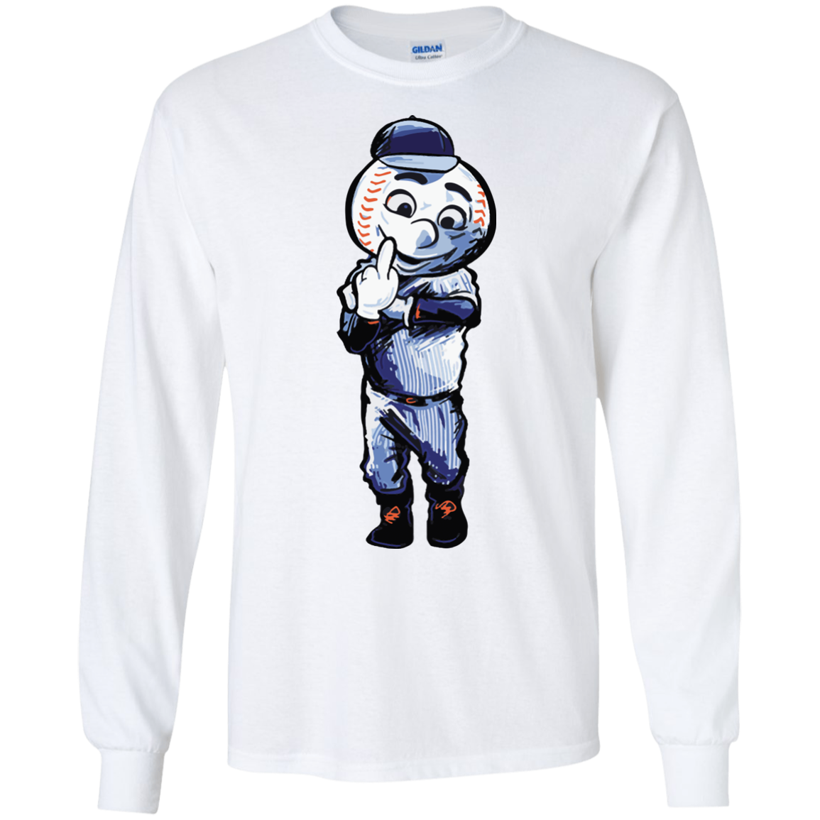 image 694px Mr. Met Middle Finger T Shirts, Hoodies