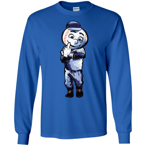image 695 490x490px Mr. Met Middle Finger T Shirts, Hoodies