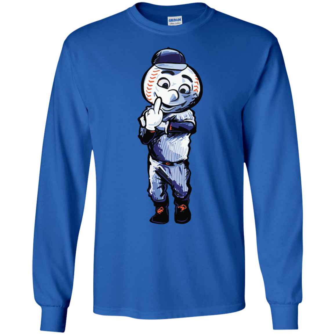 image 695px Mr. Met Middle Finger T Shirts, Hoodies
