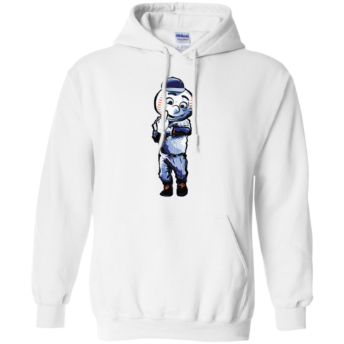 image 696 490x490px Mr. Met Middle Finger T Shirts, Hoodies