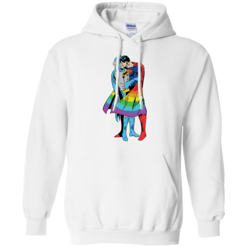image 702 490x490px Superman Kiss Batman Love Is Love LGBT T Shirts, Hoodies
