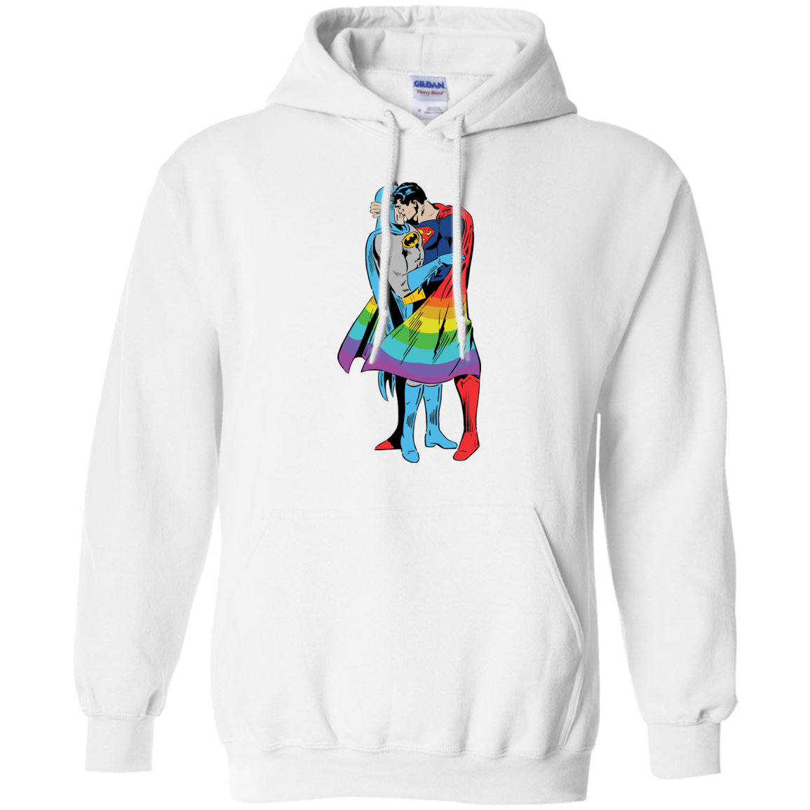 image 702px Superman Kiss Batman Love Is Love LGBT T Shirts, Hoodies