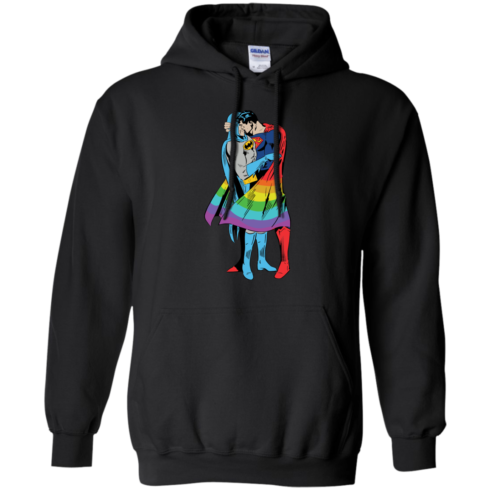 image 703 490x490px Superman Kiss Batman Love Is Love LGBT T Shirts, Hoodies