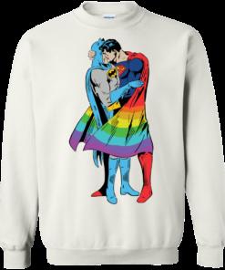 image 704 247x296px Superman Kiss Batman Love Is Love LGBT T Shirts, Hoodies