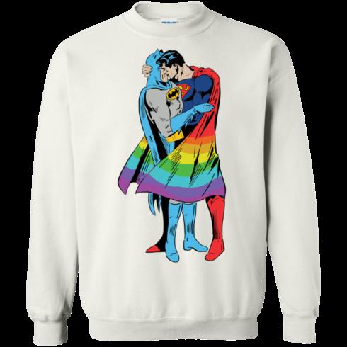 image 704 490x490px Superman Kiss Batman Love Is Love LGBT T Shirts, Hoodies