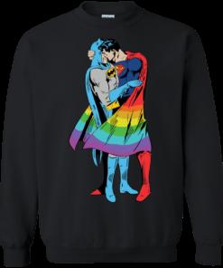 image 705 247x296px Superman Kiss Batman Love Is Love LGBT T Shirts, Hoodies