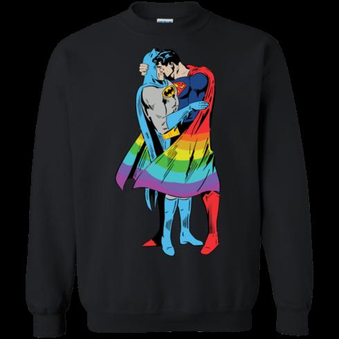image 705 490x490px Superman Kiss Batman Love Is Love LGBT T Shirts, Hoodies