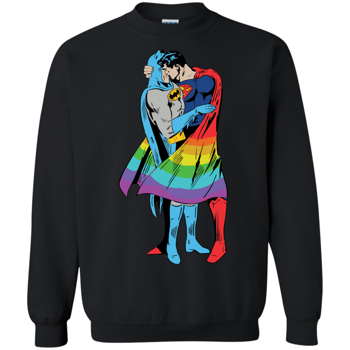 image 705px Superman Kiss Batman Love Is Love LGBT T Shirts, Hoodies