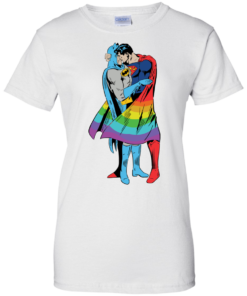 image 706 247x296px Superman Kiss Batman Love Is Love LGBT T Shirts, Hoodies