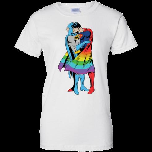 image 706 490x490px Superman Kiss Batman Love Is Love LGBT T Shirts, Hoodies