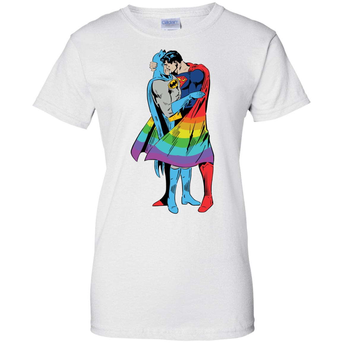 image 706px Superman Kiss Batman Love Is Love LGBT T Shirts, Hoodies