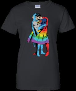 image 707 247x296px Superman Kiss Batman Love Is Love LGBT T Shirts, Hoodies