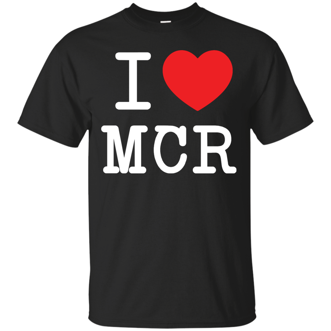 image 74px I Love Manchester T Shirts