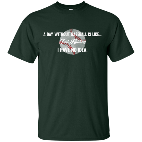 image 748 490x490px A Day Without Baseball Is Like... Just Kidding I Have No Idea T Shirts, Hoodies