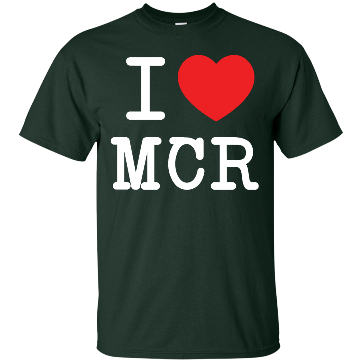 image 75px I Love Manchester T Shirts