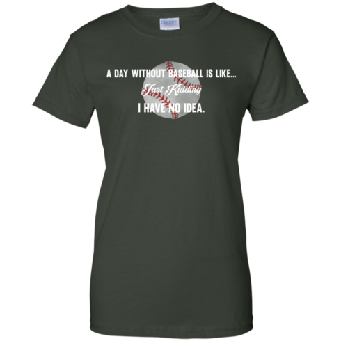 image 756 490x490px A Day Without Baseball Is Like... Just Kidding I Have No Idea T Shirts, Hoodies